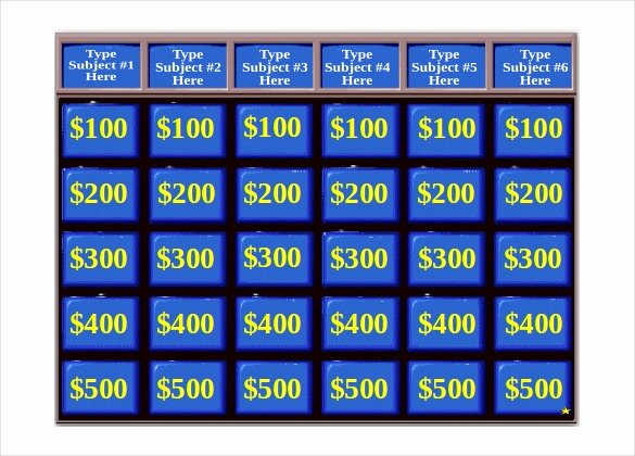 Board Game Template Powerpoint Beautiful Jeopardy Game Template