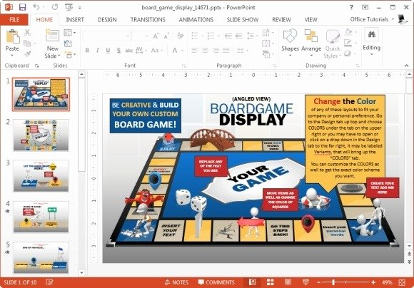 Board Game Template Powerpoint Fresh Animated Board Game Powerpoint Template
