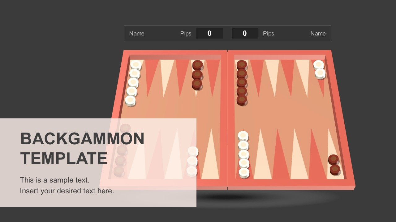 Board Game Template Powerpoint Fresh Backgammon Powerpoint Template Slidemodel