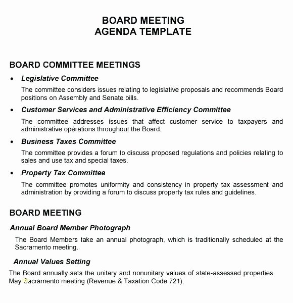 Board Meeting Agenda Template Beautiful formal Meeting Minutes Template Nonprofit Board Non Profit
