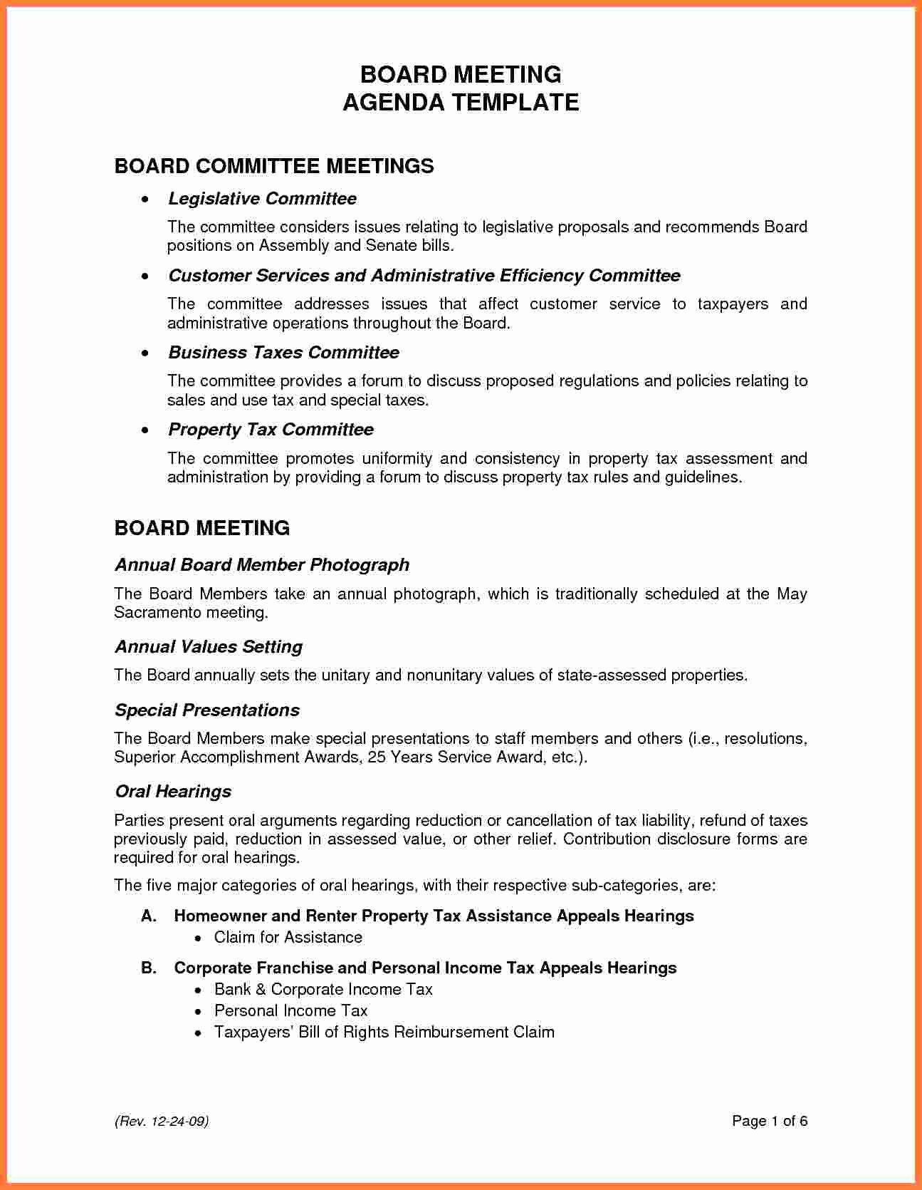 Board Meeting Agenda Template Lovely 5 Board Meeting Agenda