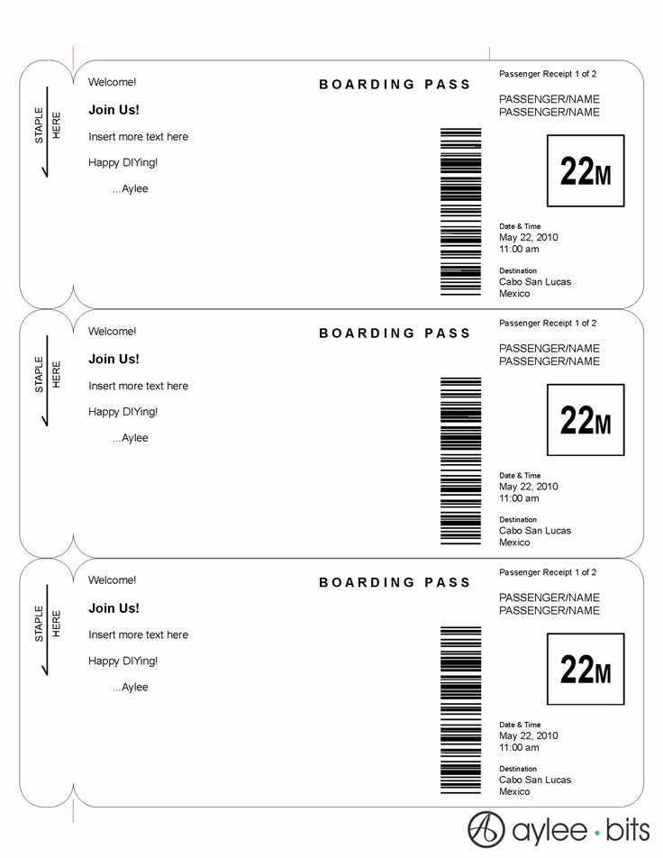 Boarding Pass Invitation Template Fresh 1000 Ideas About Boarding Pass Invitation On Pinterest