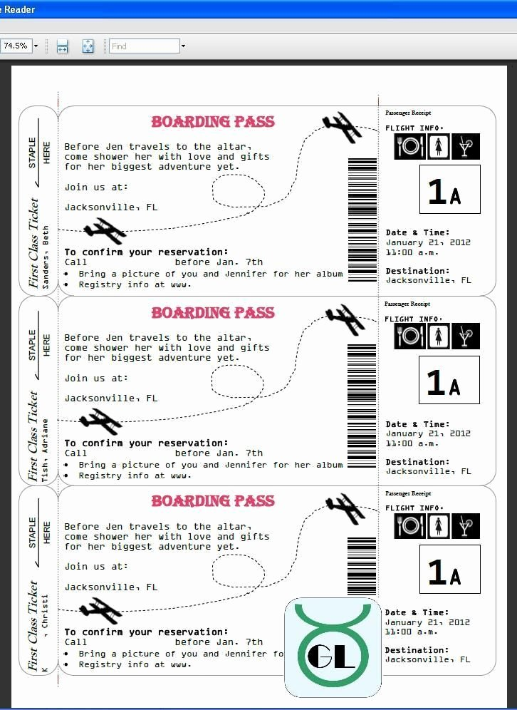 Boarding Pass Invitation Template Luxury Airline Ticket Template Boarding Pass Invites for Travel