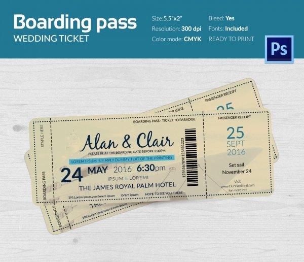 Boarding Pass Invitation Template Luxury Boarding Pass Invitation Template 36 Free Psd format