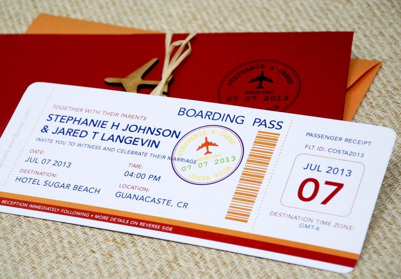 Boarding Pass Invitation Template Luxury Boarding Pass Wedding Invitation Template Wedding and