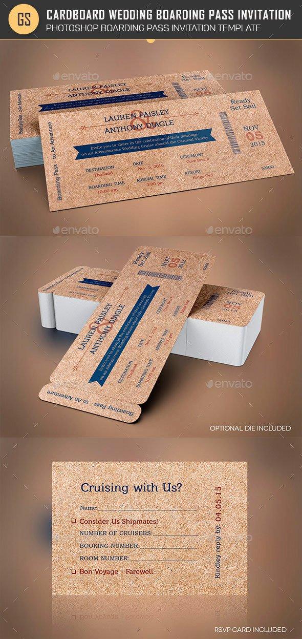 Boarding Pass Invitation Template Unique Cardboard Boarding Pass Invitation Template by Godserv2
