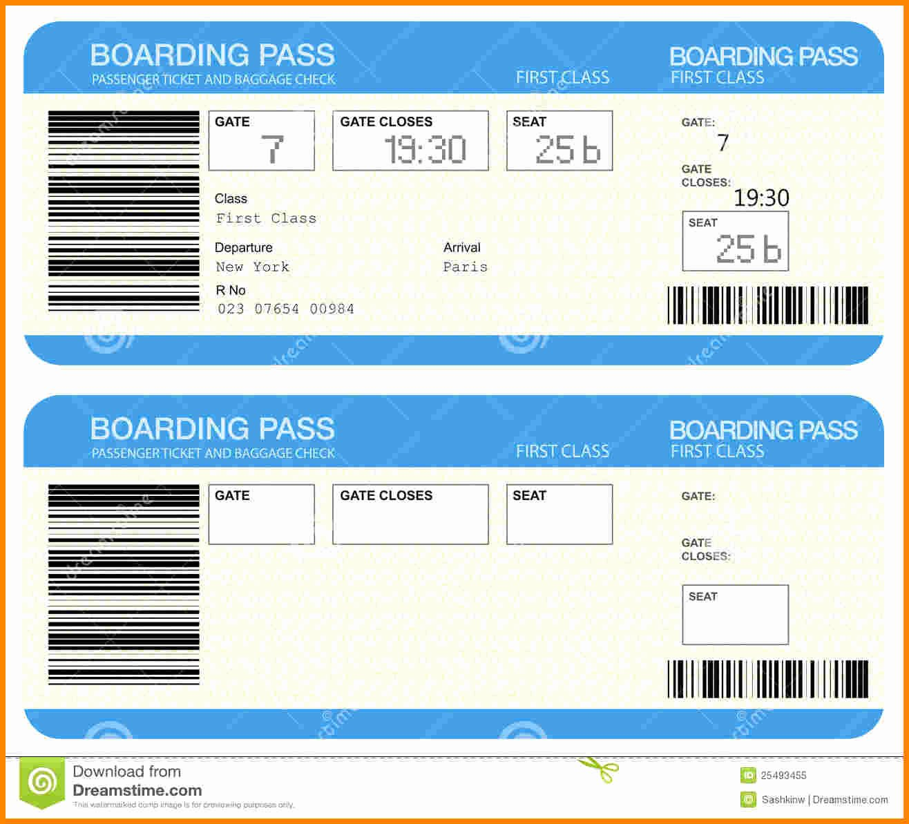 Boarding Pass Template Free Inspirational Airplane Ticket Template Example Mughals