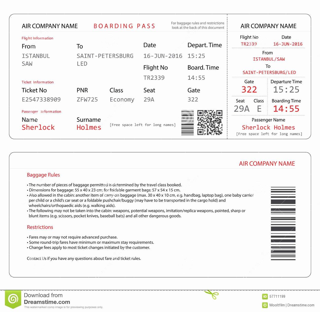 Boarding Pass Template Free Inspirational Boarding Pass Invitations Templates