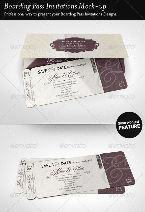 Boarding Pass Template Free Lovely 28 Boarding Pass Invitation Templates Psd Ai Vector