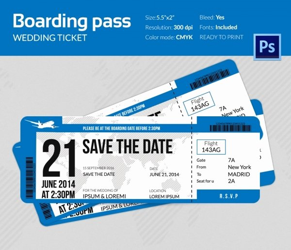 Boarding Pass Template Free Luxury Boarding Pass Invitation Template 36 Free Psd format