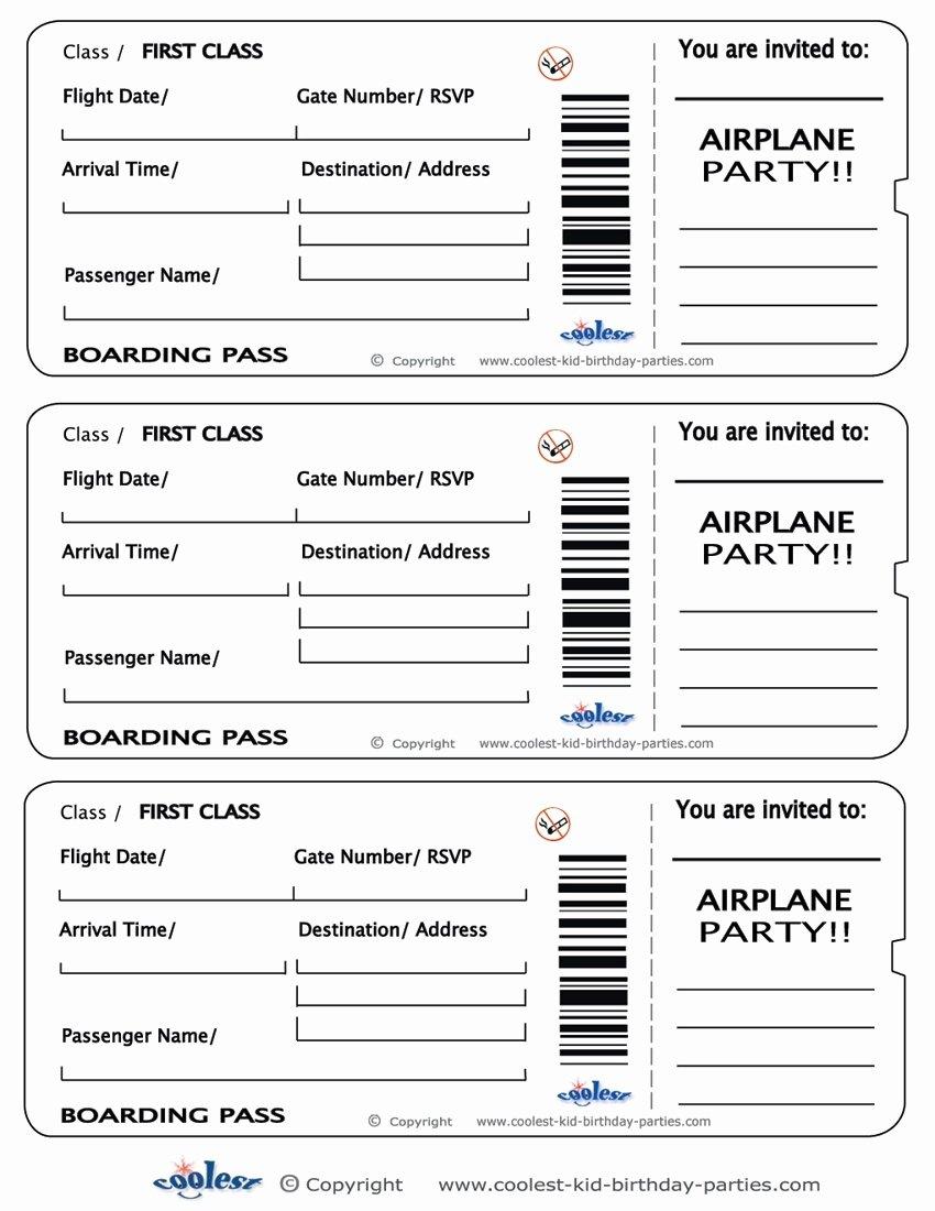 Boarding Pass Template Free Luxury Plane Ticket Template Beepmunk