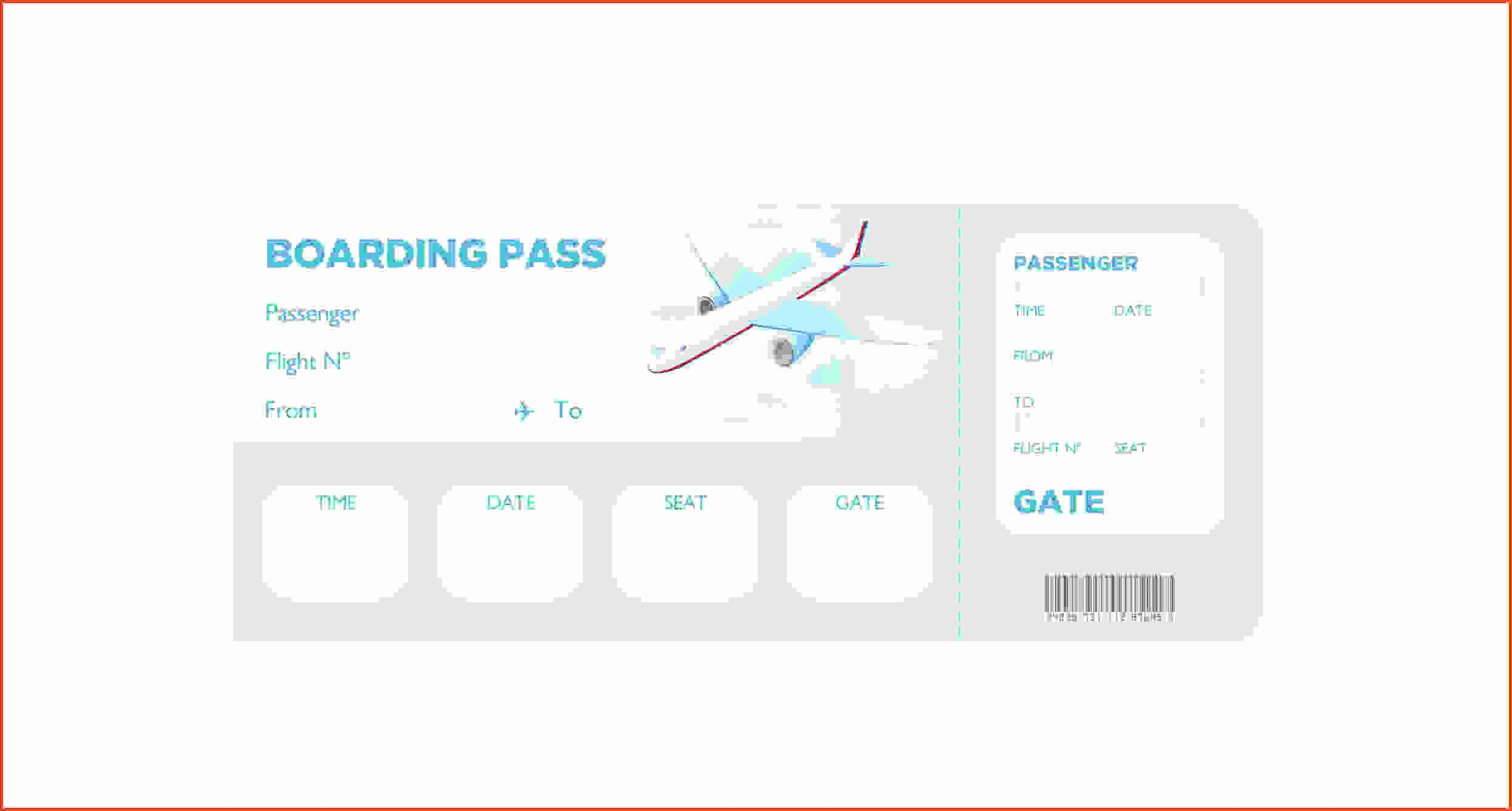 Boarding Pass Template Free New Boarding Pass Template