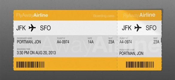 Boarding Pass Template Free Unique 33 Examples Of Boarding Pass Design & Templates Psd Ai
