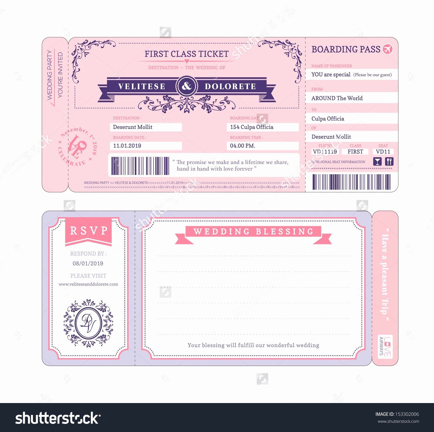 Boarding Pass Template Free Unique Airline Ticket Invitation Example Mughals