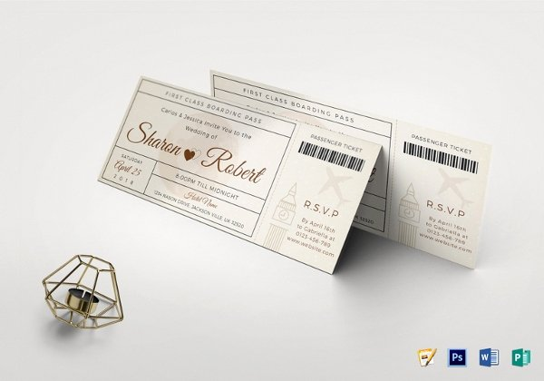 Boarding Pass Template Photoshop Awesome 28 Boarding Pass Invitation Templates Psd Ai Vector