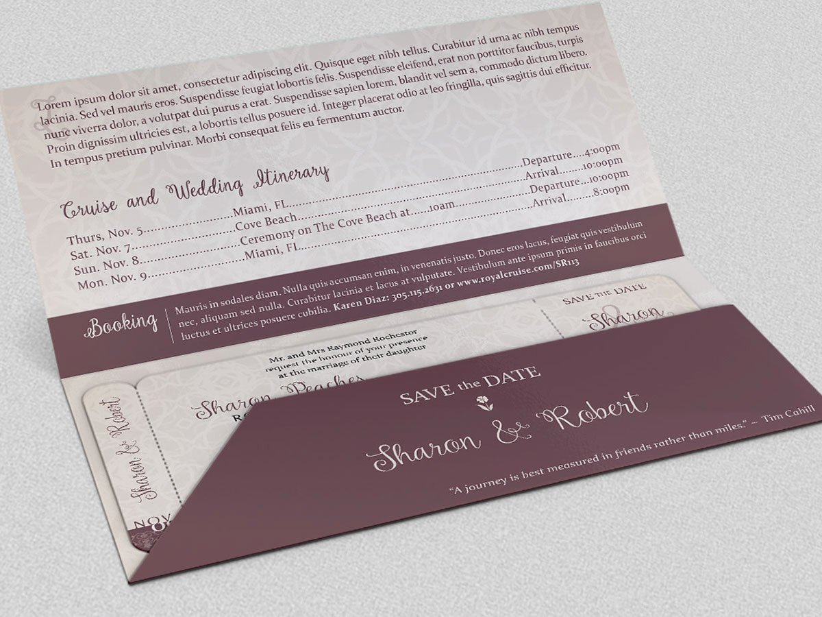 Boarding Pass Template Photoshop Best Of Wedding Boarding Pass Invitation Template On Behance