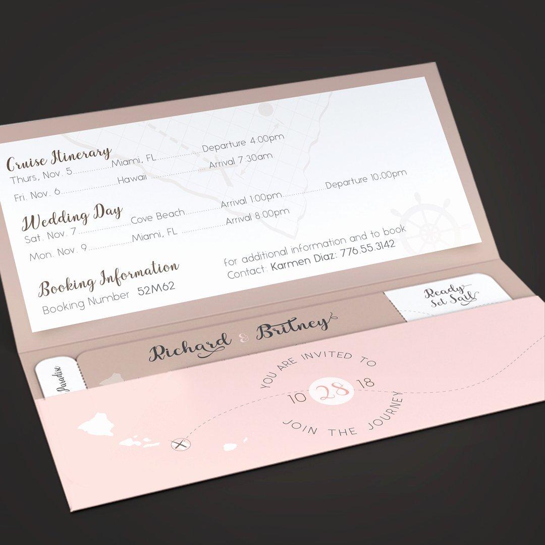 Boarding Pass Template Photoshop Elegant Pinky Wedding Boarding Pass Invitation Template On Behance