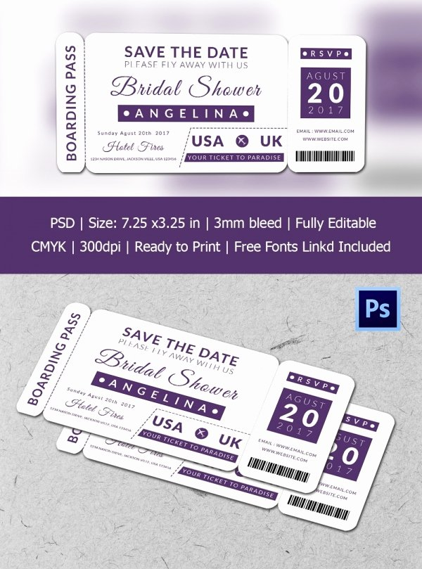 Boarding Pass Template Photoshop Fresh Boarding Pass Invitation Template 36 Free Psd format
