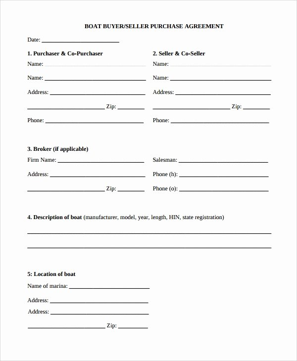Boat Purchase Agreement Template Elegant 11 Purchase Agreements Examples & Templates Word Pdf
