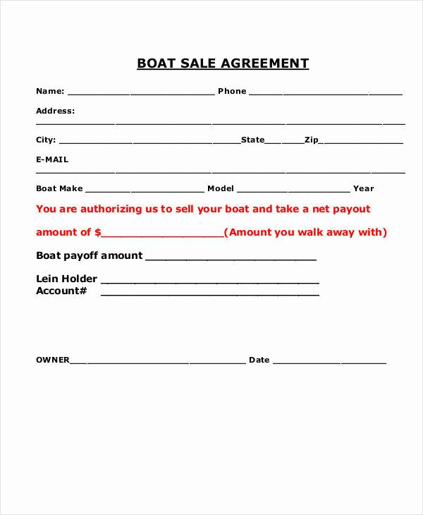 Boat Purchase Agreement Template New 9 Sales Agreement Contract Samples & Templates Pdf