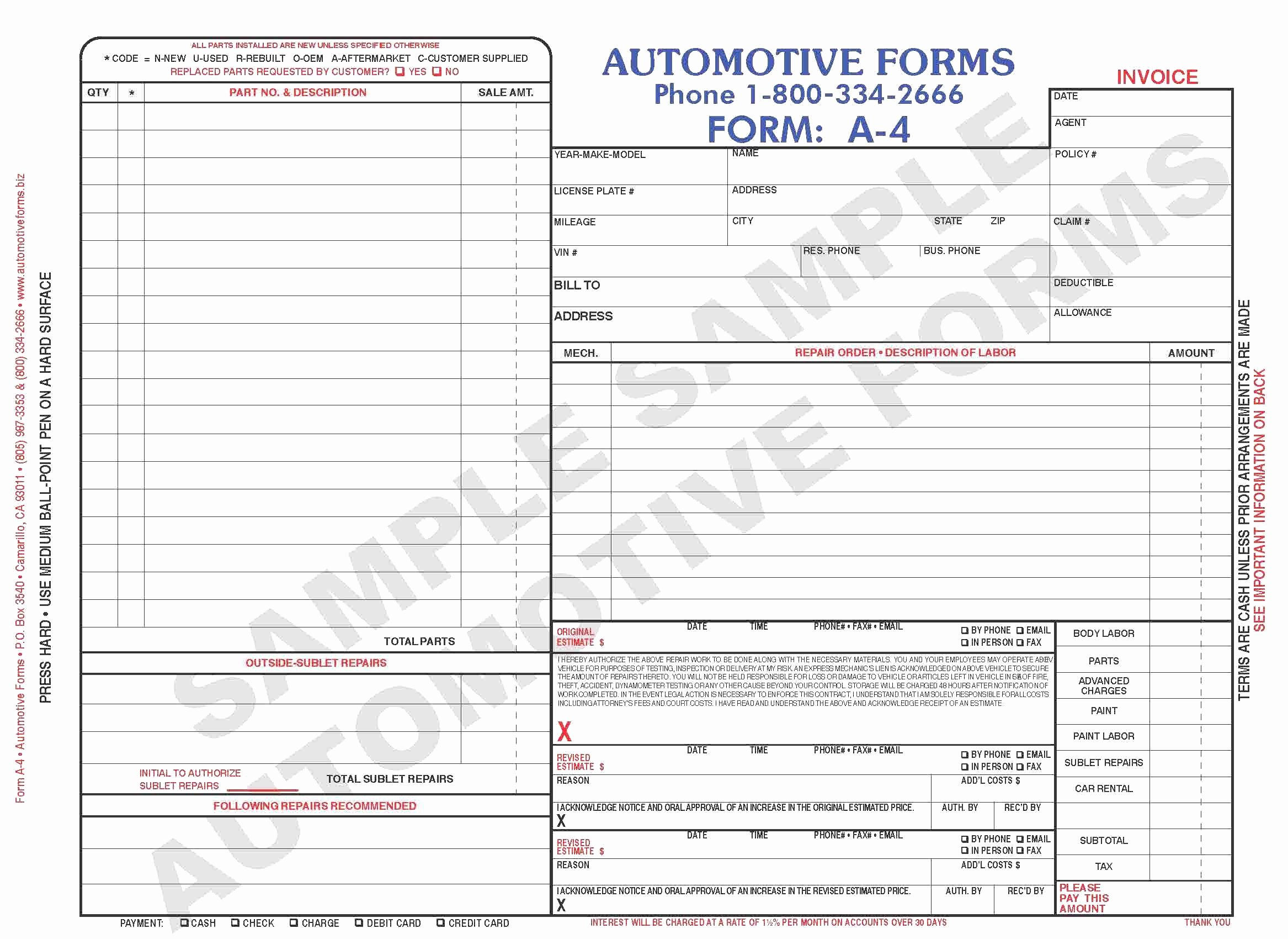 Body Shop Estimate Template Awesome Free Body Shop Estimate Template Sample Worksheets