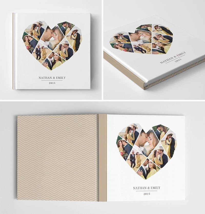 Book Cover Template Photoshop Awesome Engagement Album Book Cover Template for Graphers