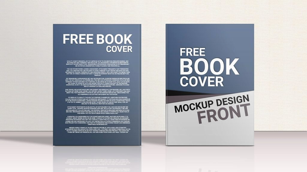 Book Cover Template Psd Beautiful Standing Hardcover Book Front Back Mockup