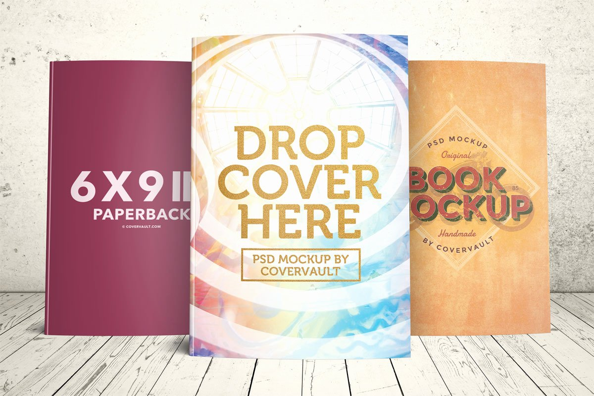 Book Cover Template Psd Fresh Covervault Free Psd Mockups for Books and More