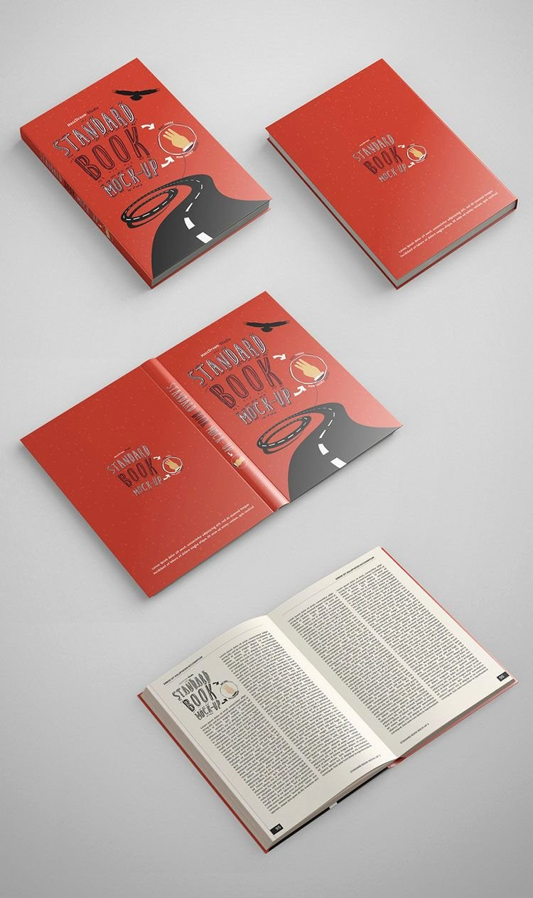 Book Cover Template Psd Inspirational Standard Book Mockup Psd Book Covers
