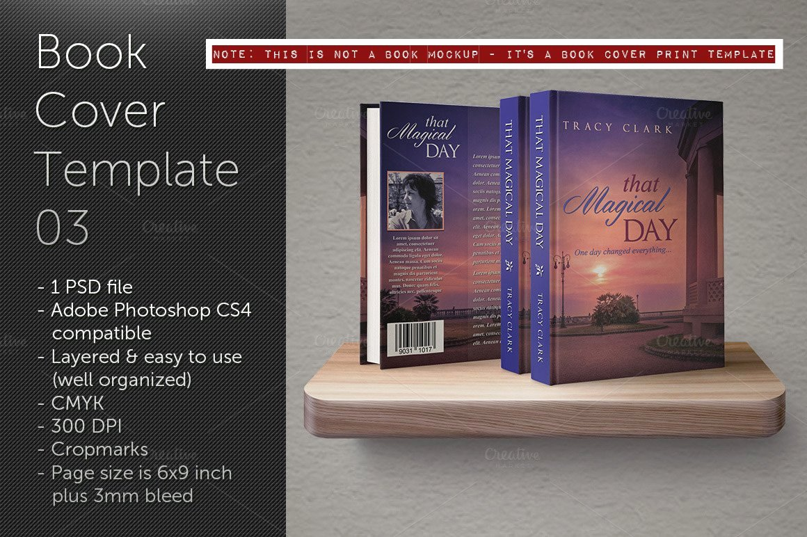 Book Cover Template Psd New Book Cover Template 03 Templates Creative Market