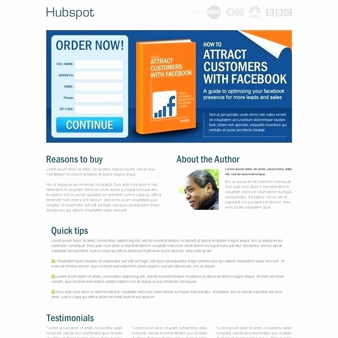 Book Landing Page Template Awesome Ebook Template