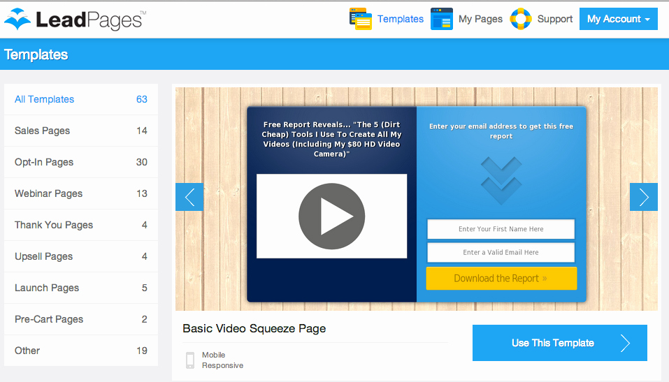 Book Landing Page Template Awesome How to Create A Landing Page with Leadpages In 3 Easy