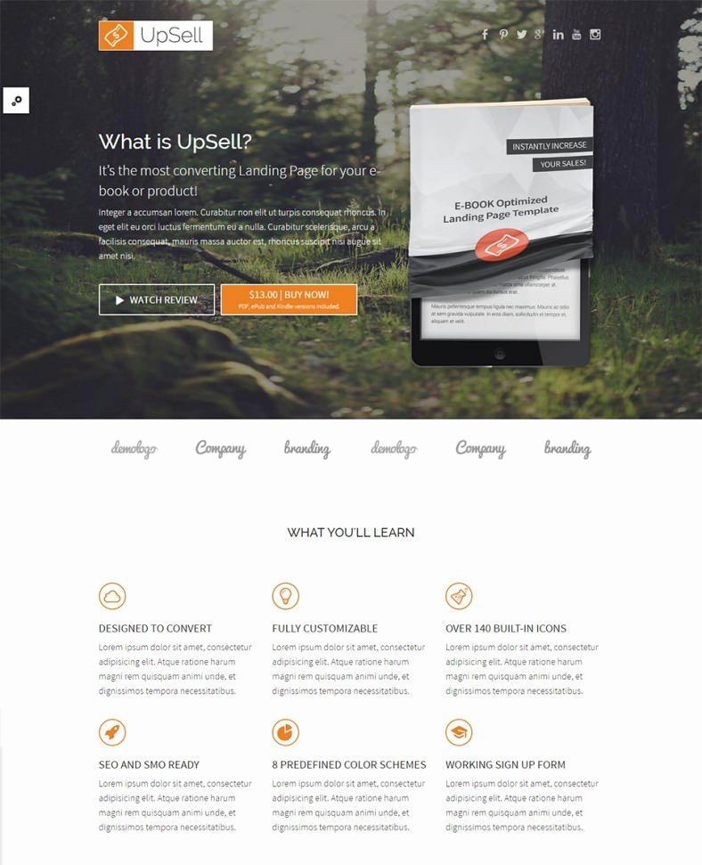 Book Landing Page Template Beautiful 30 Best Internet Marketing Landing Page Templates
