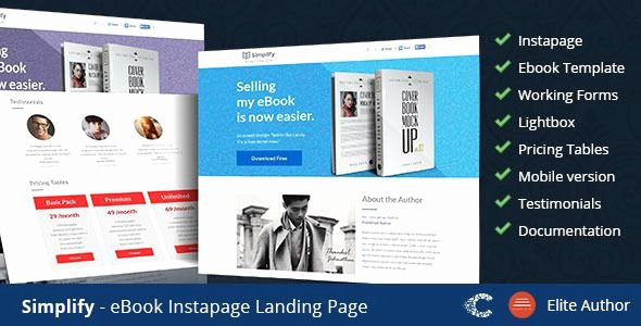 Book Landing Page Template Best Of 27 Premium Responsive Landing Page Templates Dzinemag