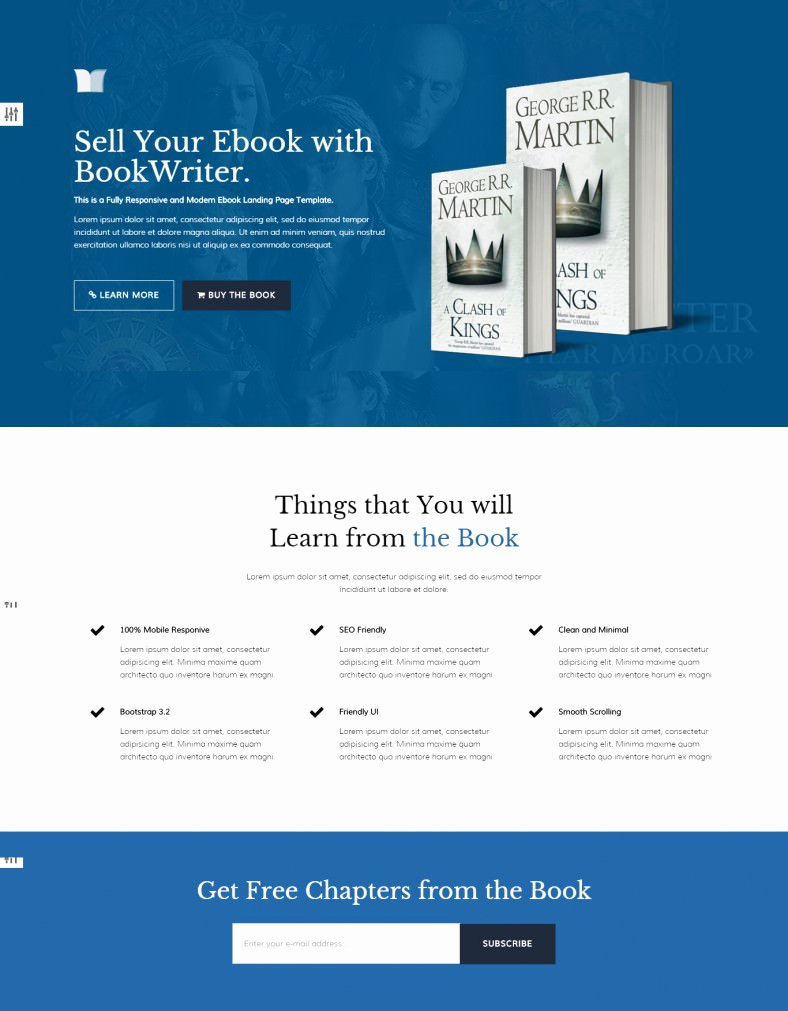 Book Landing Page Template Best Of Ebook Landing Page Templates & themes