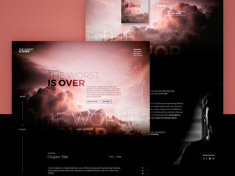 Book Landing Page Template Elegant E Book Landing Page Template Free Psd Download Psd