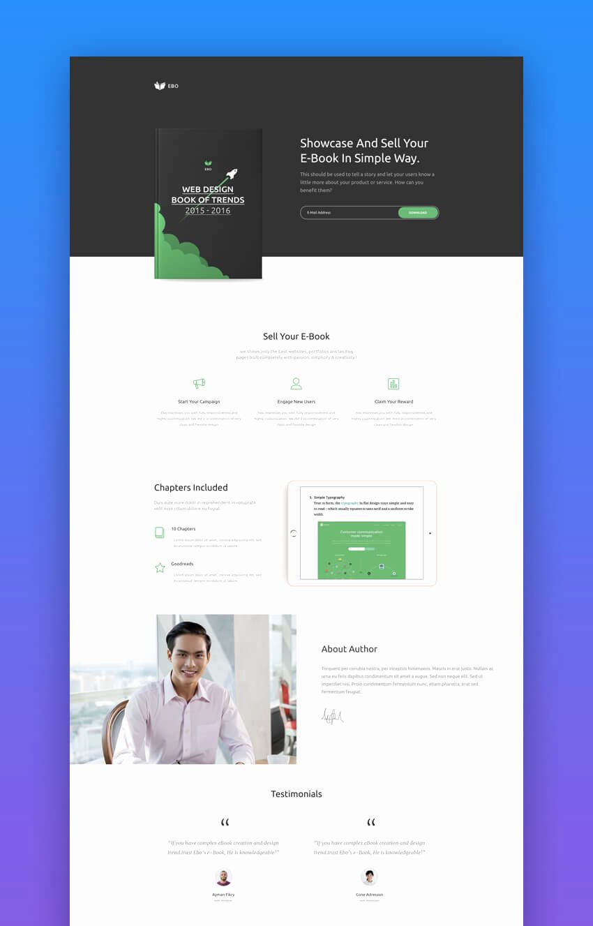 Book Landing Page Template Inspirational 20 Best Book & Ebook Landing Page theme Designs 2018