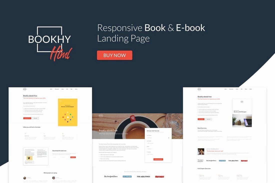 Book Landing Page Template Luxury 30 Clean & Minimal Landing Page Templates
