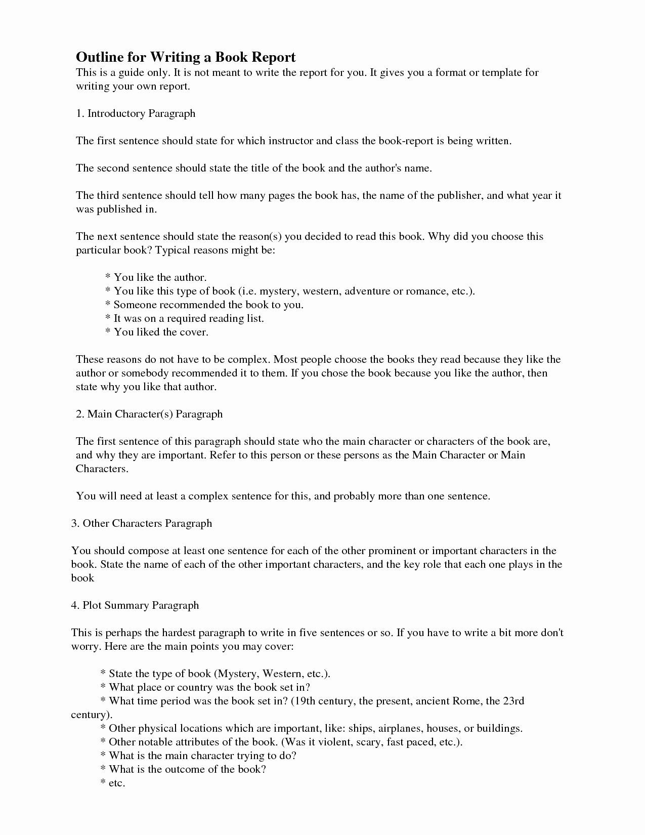 Book Report Outline Template Beautiful How Do You Write A Book Report College