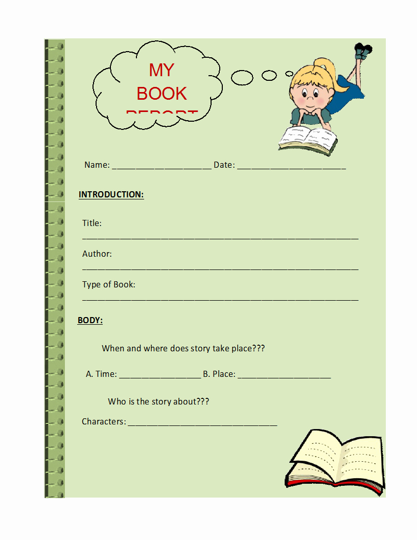 Book Report Outline Template Fresh Free Printable Report Templates