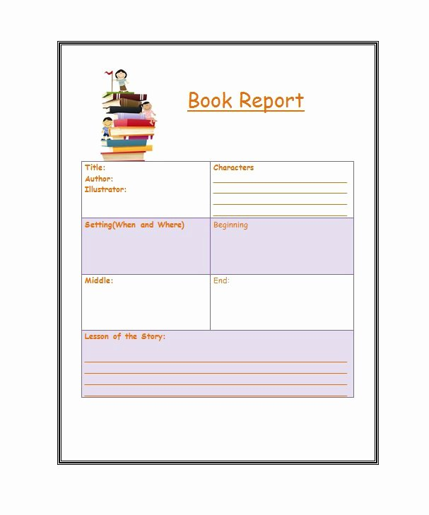 Book Report Outline Template Lovely 30 Book Report Templates & Reading Worksheets