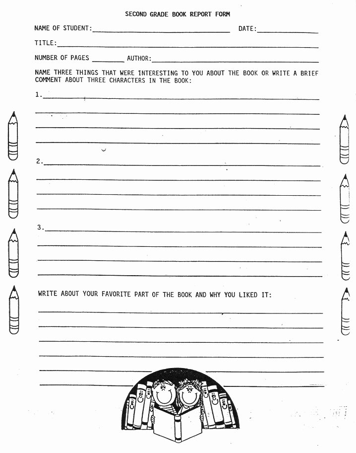 Book Report Outline Template Luxury 2nd Grade Book Report Worksheets Elementary School