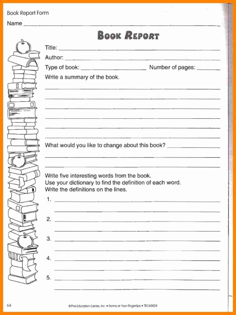 Book Report Outline Template Luxury 30 Of 5th Grade State Report Template