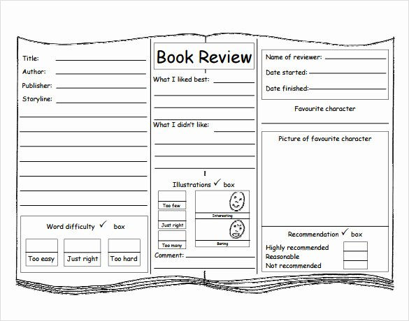 Book Review Template Pdf Lovely 10 Book Review Templates Pdf Word