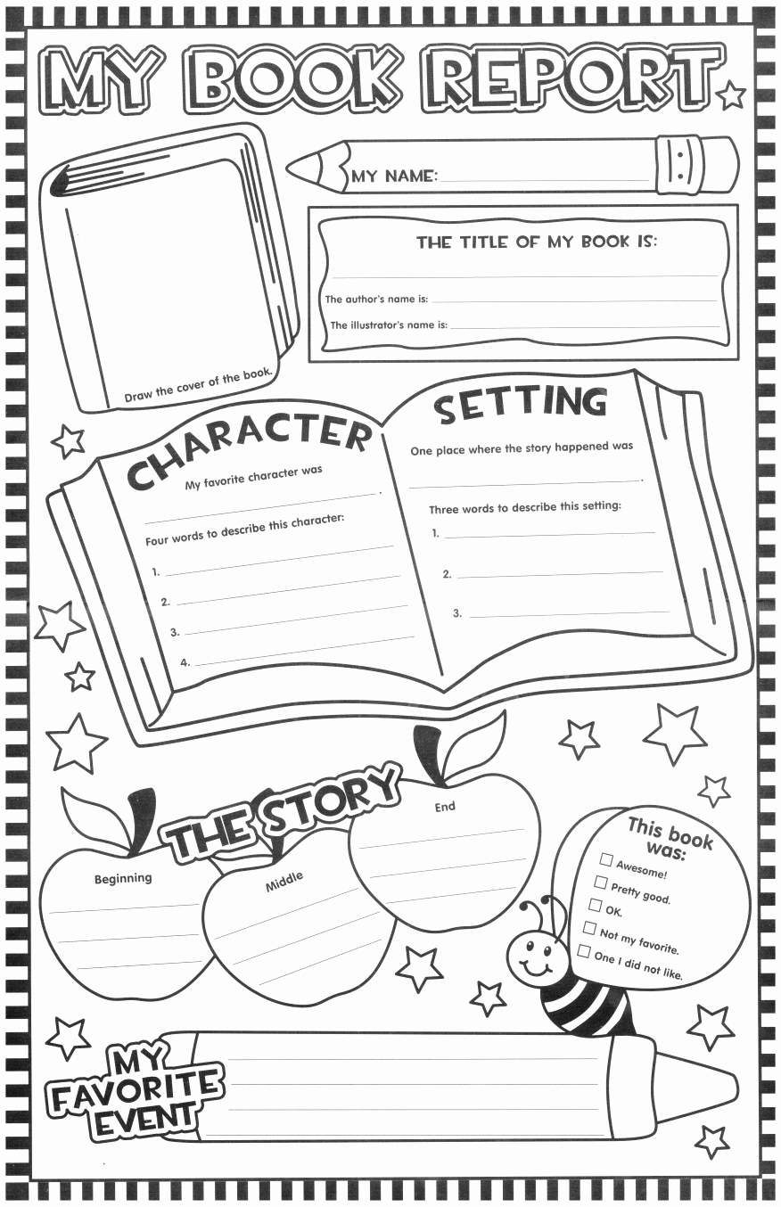 Book Template for Kids Awesome Such A Fun Looking Page for the Kids to Fill Out after