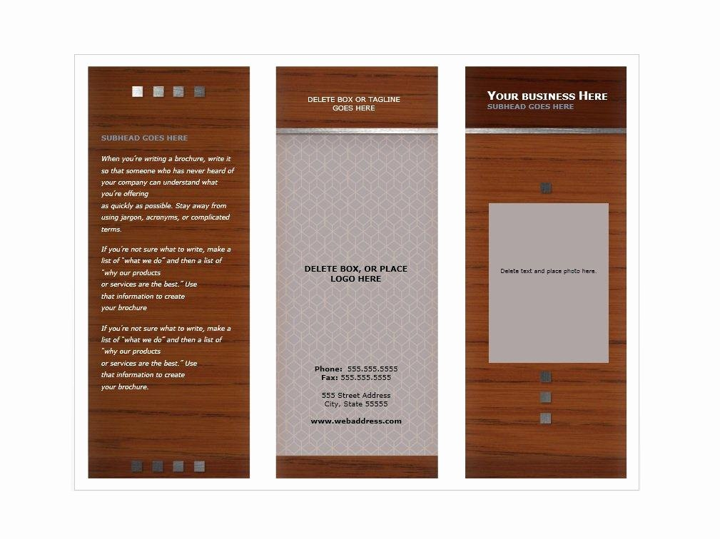 Booklet Template Free Download Awesome 31 Free Brochure Templates Ms Word and Pdf Free