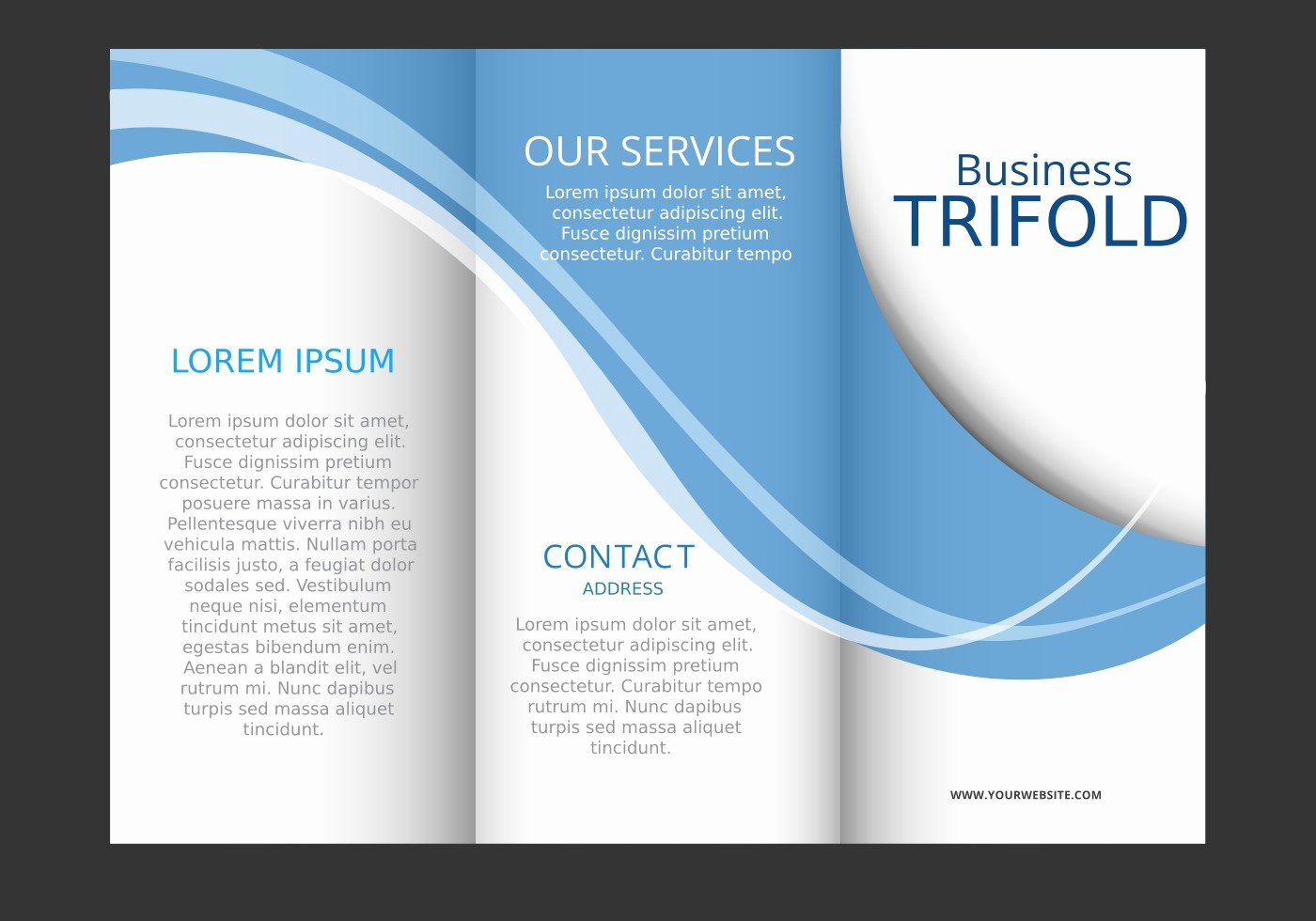 Booklet Template Free Download Awesome Template Design Of Blue Wave Trifold Brochure Download