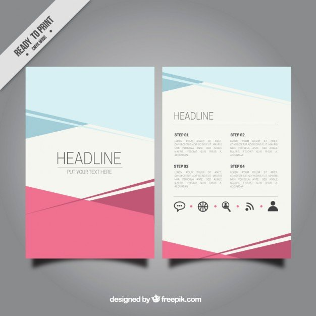 Booklet Template Free Download Beautiful Abstract Brochure Template Vector