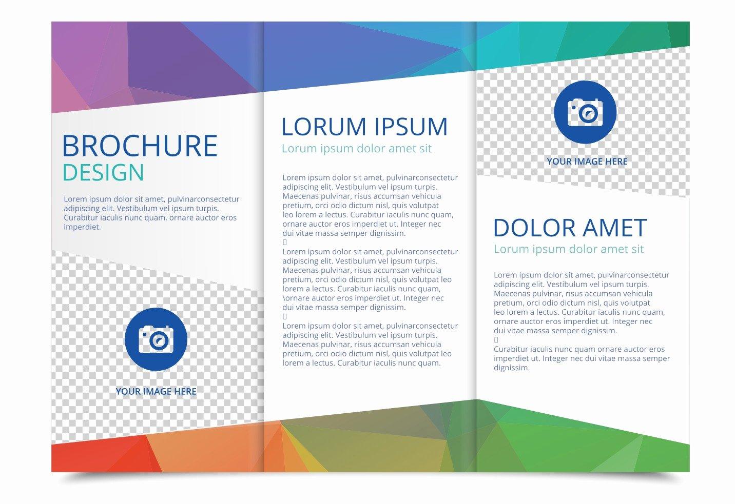 Booklet Template Free Download Elegant Free Tri Fold Brochure Vector Template Download Free
