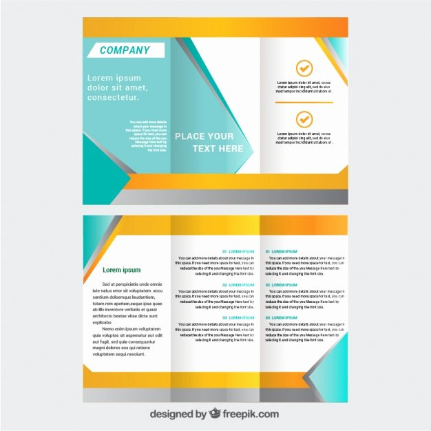Booklet Template Free Download Lovely Trifold Brochure Template Vector